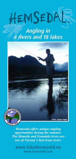Informationfolder for fishing in Hemsedal